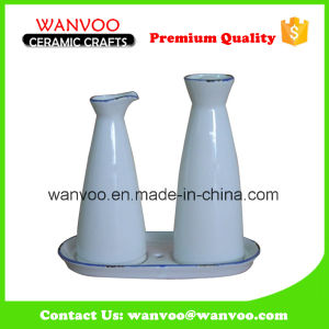 Ceramic Soy Oil and Vinegar Bottle for Kitchen Supplies pictures & photos