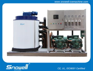 15tpd Water Cooling High Efficiency Flake Ice Machine From Snowell