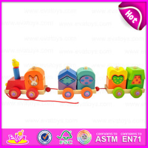 2016 Brand New Wooden Train Toy, Educational Wood Train Toy, Kids′ Toy Train, Lovely Wooden Train Toy W05c035 pictures & photos
