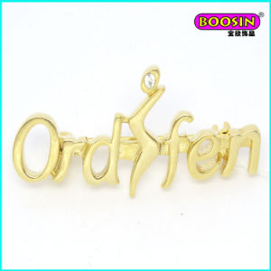 Daily Wearing Custom Cheap Gold Letter Brooch Pin pictures & photos