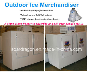 Upright Outdoor Ice Freezer Cold Wall or Auto-Defrost pictures & photos