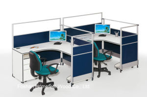 Slim Design Melamine Office Furniture Wooden Workstation (HF-YT283) pictures & photos