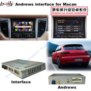 (10-15) Car Upgrade HD Multimedia Android Interface GPS Navigation Box for Porsche-Macan, WiFi/Bt/Mirrorlink pictures & photos