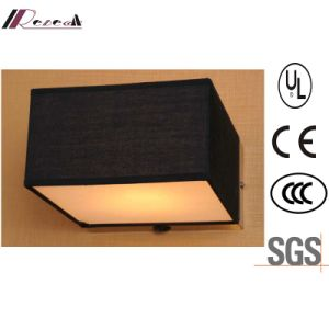 Guzhen Hotel Decorative Black Fabric Shade Square Wall Light pictures & photos