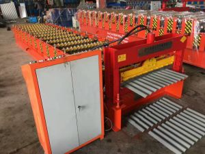 Dx Cheap Glazed Steel Sheet Roof Tile Roll Forming Machine pictures & photos