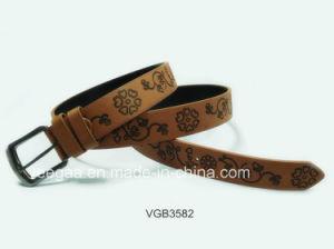 New Fashion Belt Print Belt Pin Buckle PU Belt