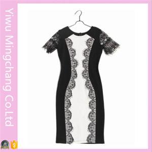 2016 Hot Sale Latest Styles Women Lace Sleeve Splice Pencil Dresses pictures & photos