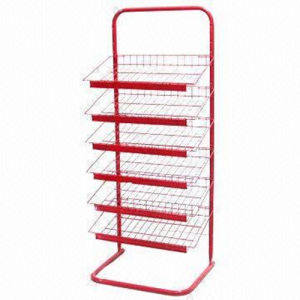 Display Stand Design for Iron Wire Floor Rack pictures & photos
