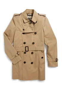 Wholesale Customerized Men′s Short Double Breasted Trench Coat pictures & photos