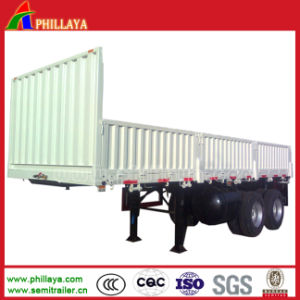 High Flat Bed Box Cargo Side Loader Semi Trailer pictures & photos