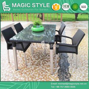 Aluminum Wire Dining Set Aluminum Drawing Dining Set Rattan Chair (Magic Style) pictures & photos