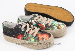 Women Shoes Leisure Footwear with Hemp Rope Foxing (SNC-280018) pictures & photos