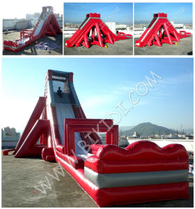 Commercial Inflatable Slide, Giant Inflatable Monster Wave Water Slide with Landing pictures & photos