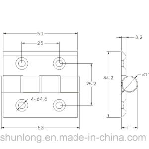 Aluminium Hinge for Doors and Windows/Hardware (SH-550) pictures & photos