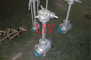 API 6D Fully Welded End Ball Valve with Extension Stem pictures & photos