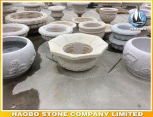 Cheap Octagonal Shape Garden Vase Granite Flower Pot pictures & photos