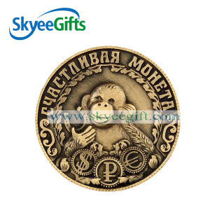 Promotional Zinc Alloy Souvenir Coins with Golden Plating pictures & photos