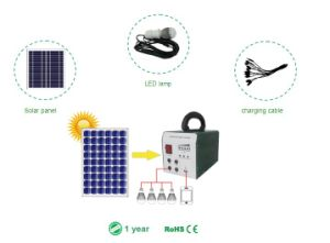 Power Solution 25W Solar Portable Home System with Lighting Power pictures & photos