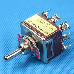 on-off-on 9 Pin Heavy Duty Toggle Switch (KN-303) pictures & photos
