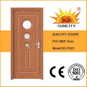 Interior MDF Laminated PVC Door pictures & photos
