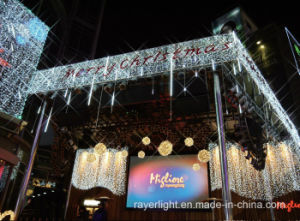 Outdoor LED Music Christmas String Street Curtain Light for Market pictures & photos