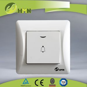 Wall Switch Wall Socket 1 Gang Bell Push Switch pictures & photos