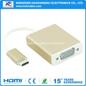 USB 3.1 Type C to VGA Adapter/USB 3.1 Cable pictures & photos