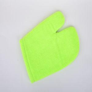Green, Superfine Fiber Clean Gloves pictures & photos