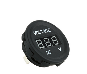 LED Display Car Digital Voltmeter Electric Voltage Meter Monitor Socket for Automobile Motorcycle Truck Minibus for ATV Boat pictures & photos
