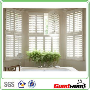 White Paint Poly PVC Bathroom Window Shutter