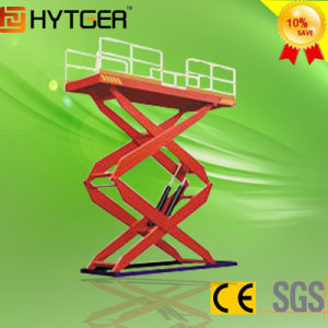 Latest Edition Stationary Hydraulic Scissors Lift (Double Scissors) pictures & photos
