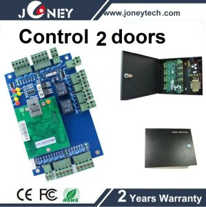 TCP/IP Two 2 Door Access Control Panel for RFID Access Control System pictures & photos