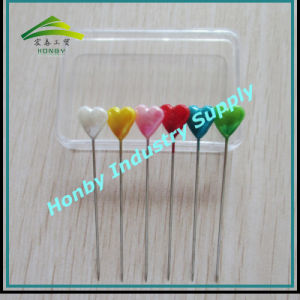 Honby 55mm Pearl Heart Shape Metal Decorative Head Pin (P160323A) pictures & photos
