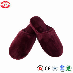 Plush Velour Wedge Womens Fashion Soft Hotel Slippers pictures & photos