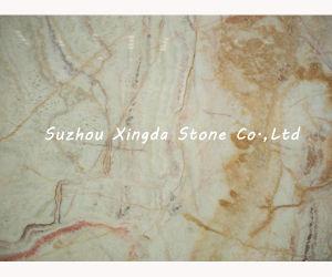 Polished Gold Flooring Marble Slab