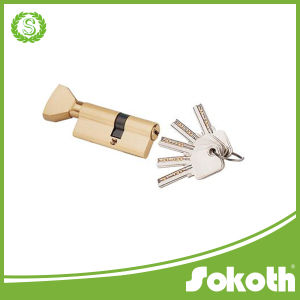 Gold Tone Metal Safety Home Single Open Door Lock Cylinder pictures & photos