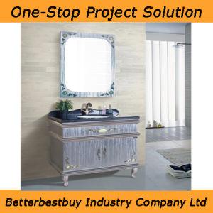 Floor Standing Stainless Steel Bathroom Cabinet pictures & photos