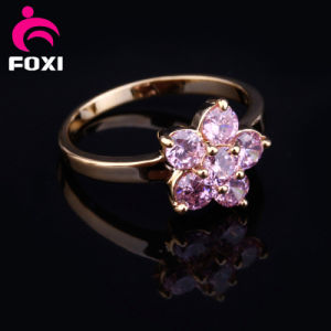 Flower Design Fancy Gold Finger Ring pictures & photos
