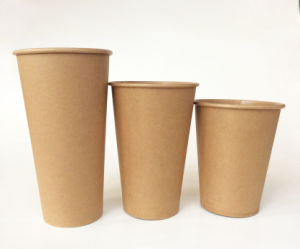 4/6/8/12oz Hot Cup for Kraft Paper Coffee Cup pictures & photos