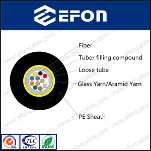 Aerial Kevlar Reinforced Armoured 4/6/12/24core Optical Fiber Cable Price pictures & photos