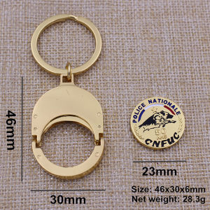 Gold Finish Coin Holder Key Ring pictures & photos