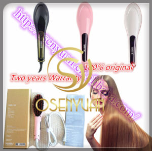 2015 Hot Brush for Hair Straightener, Electric Straightening Hair Brush and Comb with LCD pictures & photos
