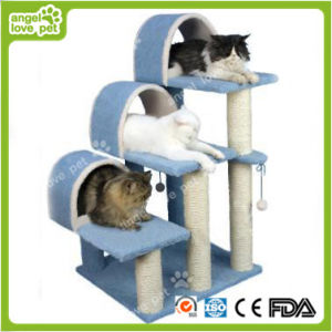 High Quality New Design Three Lie Places Cat Tree pictures & photos