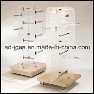 Rotatable Wooden Wardrobes/Garment Store Display Rack/Garment Exhibition Stand pictures & photos