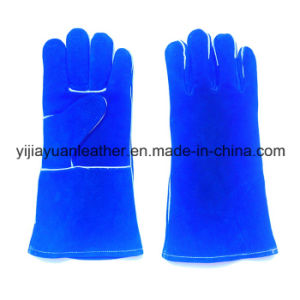 Cow Split Leather Welding Gloves with Kevlar Stitching pictures & photos