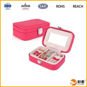 Luxury Jewelry Gift Leather Packaging Case with Fashion Tray
