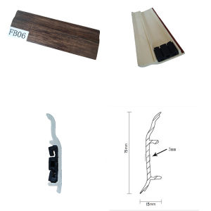Flooring Accessories Plastic Skirting PVC Skirting for Laminate Flooring pictures & photos