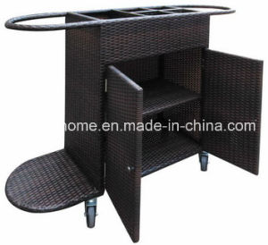 PE Rattan Hotel Hand Service Trolley pictures & photos