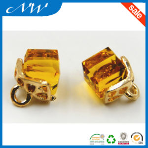 Colorful Square Design Metal Shank Button with Crystal for Shirt pictures & photos