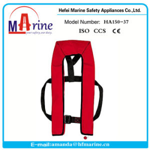 Basic Design Hot Sale Red Color Automatic Inflatable Life Jacket pictures & photos